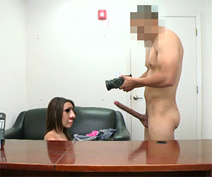 18yo freak does a casting for a porn movie